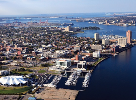Portsmouth Waterfront Aerial